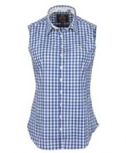 TOGGI CARVER SLEEVELESS SHIRT - BLUE CHECK - RRP £39.99